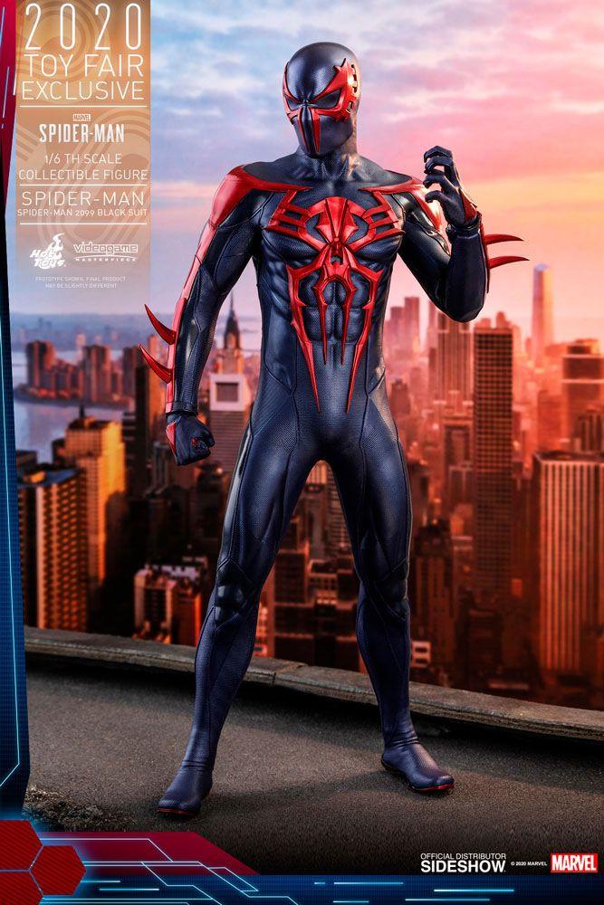 Marvel's Spider-Man Video Game Masterpiece Action Figure 1/6 Spider-Man 2099 Black Suit HT Exclusive