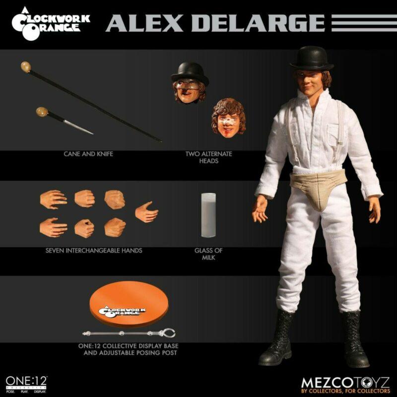 A Clockwork Orange Action Figure 1/12 Alex DeLarge 17 cm
