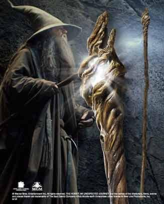 The Hobbit An Unexpected Journey Replica 1/1 Gandalf Illuminating Staff 186 cm