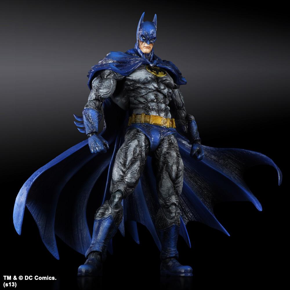 Batman Arkham City Play Arts Kai Action Figure Batman No. 7 1970 Batsuit Skin