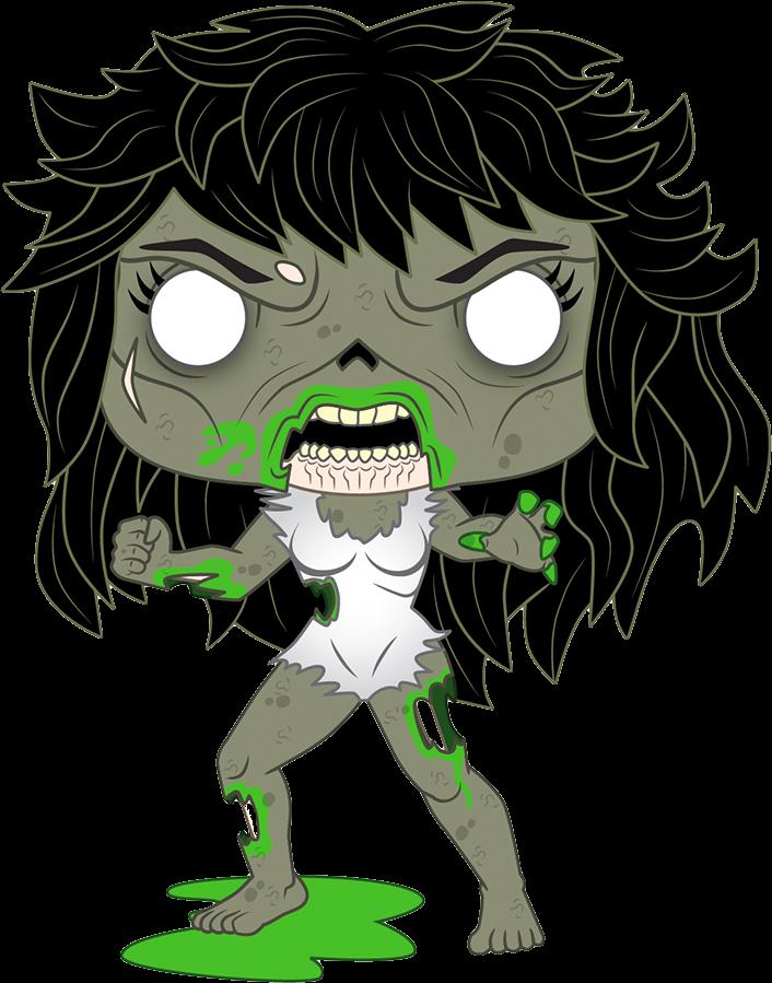 Marvel Zombies POP! Vinyl Figure Zombie She-Hulk Limited 9 cm