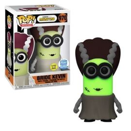 Minions 2: The Rise of Gru POP! Movies Vinyl Figure Bride Kevin Glow in the Dark Limited  9 cm