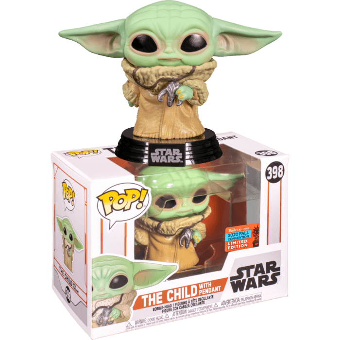 Star Wars: The Mandalorian POP! Vinyl Figure The Child (Baby Yoda) with Necklace (2020 Fall Convention Exclusive)