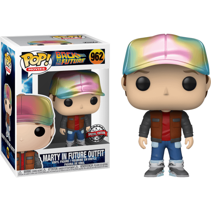 Back to the Future Part II POP! Vinyl Figure Marty McFly In Future Outfit Metallic Limited 9 cm