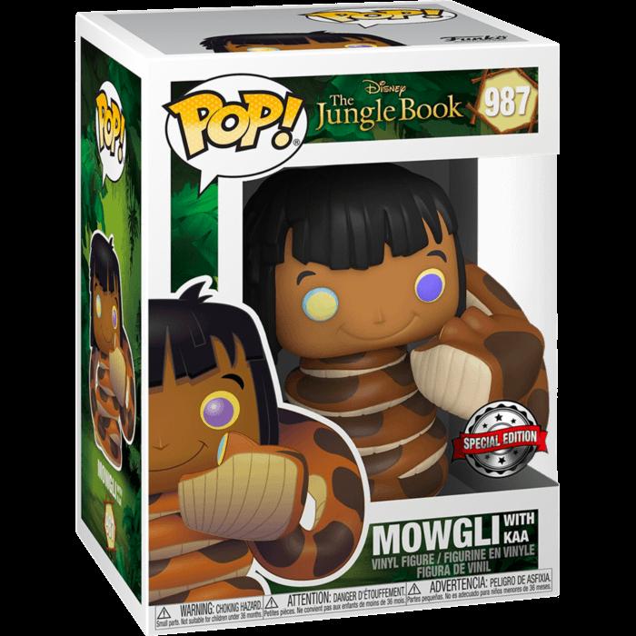 The Jungle Book POP! Vinyl Figure Mowgli with Ka Limited 9 cm