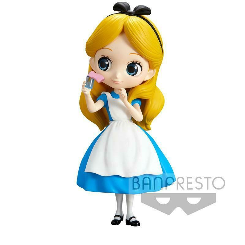 Disney Q Posket - Alice Thinking Time - Normal Color Version Figure 14 cm