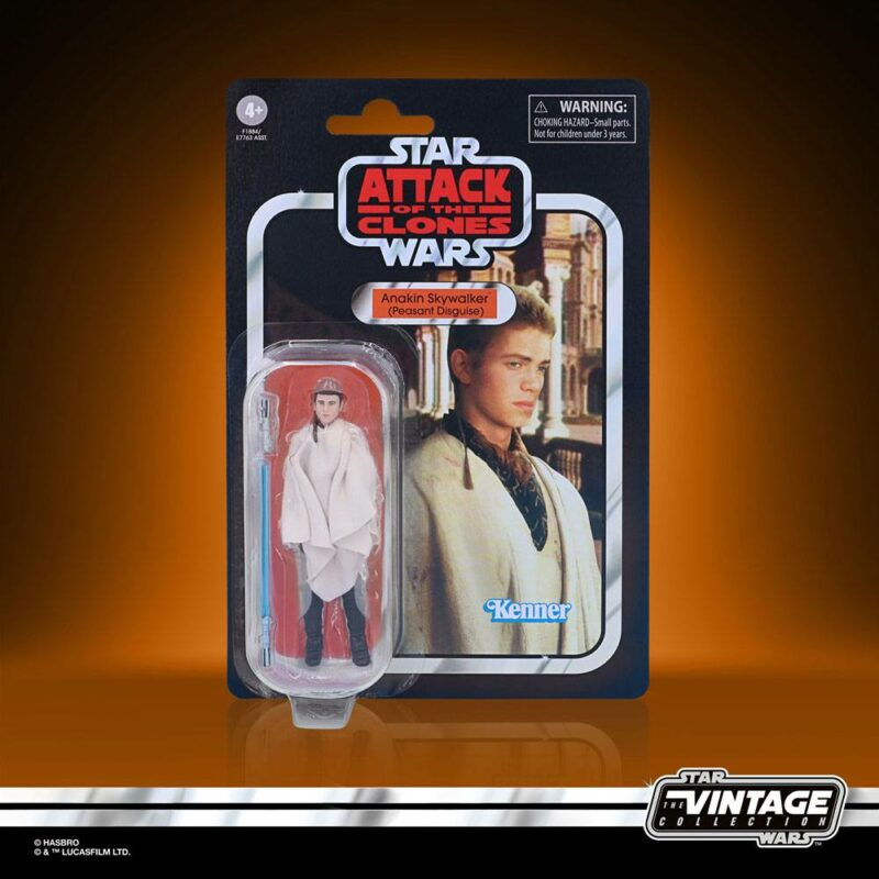 Star Wars Vintage Collection Wave 2 2021 Action Figure Anakin Skywalker (Peasant Disguise) (Episode II) 10 cm