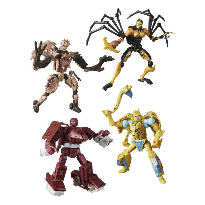 Transformers Generations War for Cybertron: Kingdom Action Figures Deluxe 2021 W1 Assortment (4)