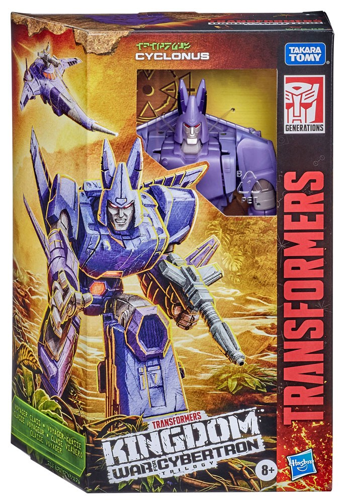 Transformers Generations War for Cybertron: Kingdom Voyager 2021 W1 Action Figure Cyclonus