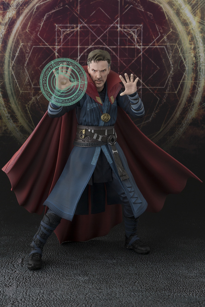 Doctor Strange S.H. Figuarts Action Figure Doctor Strange & Burning Flame Set 15 cm