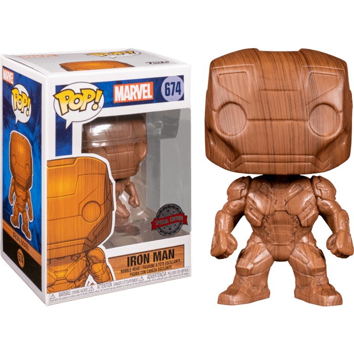 Iron Man POP! Vinyl Figure Iron Man Wood Deco Limited 9 cm