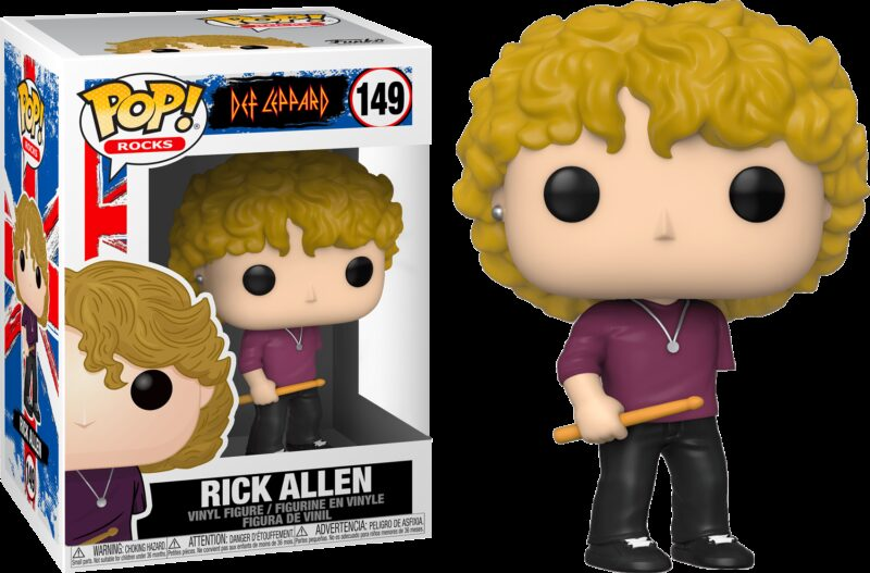 Def Leppard POP! Rocks Vinyl Figure Rick Allen 9 cm