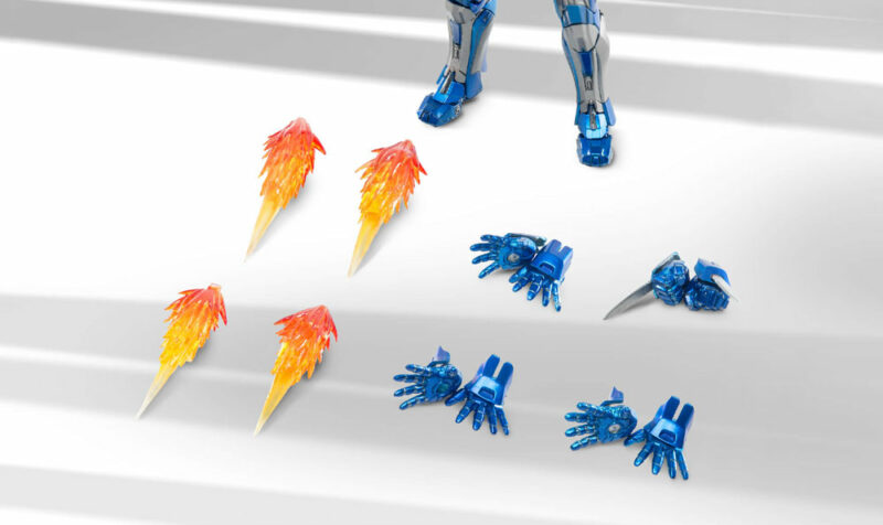 Iron Man 3 Diecast Action Figure 1/12 Mark XXX Blue Steel 15 cm