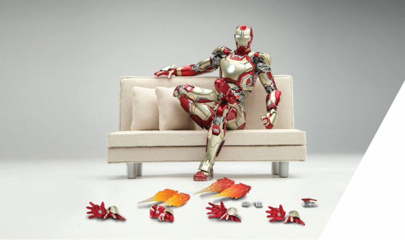 Iron Man 3 Diecast Action Figure 1/12 Mark XLII with Sofa SDCC 2016 15 cm