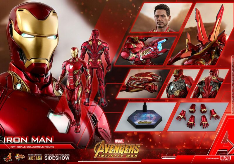 Avengers Infinity War Diecast Movie Masterpiece Action Figure 1/6 Iron Man 32 cm
