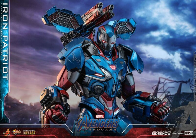 Avengers: Endgame Movie Masterpiece Series Diecast Action Figure 1/6 Iron Patriot 32 cm