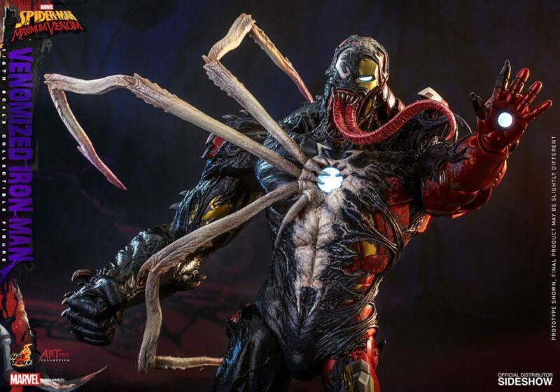 Marvel's Spider-Man: Maximum Venom Artist Collection Action Figure 1/6 Venomized Iron Man 35 cm