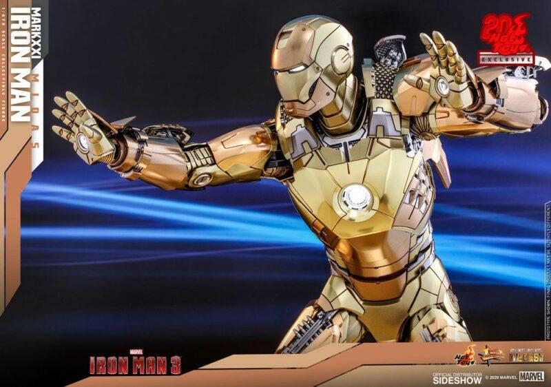 Iron Man 3 Movie Masterpiece Action Figure 1/6 Iron Man Mark XXI Midas Hot Toys Exclusive 32 cm