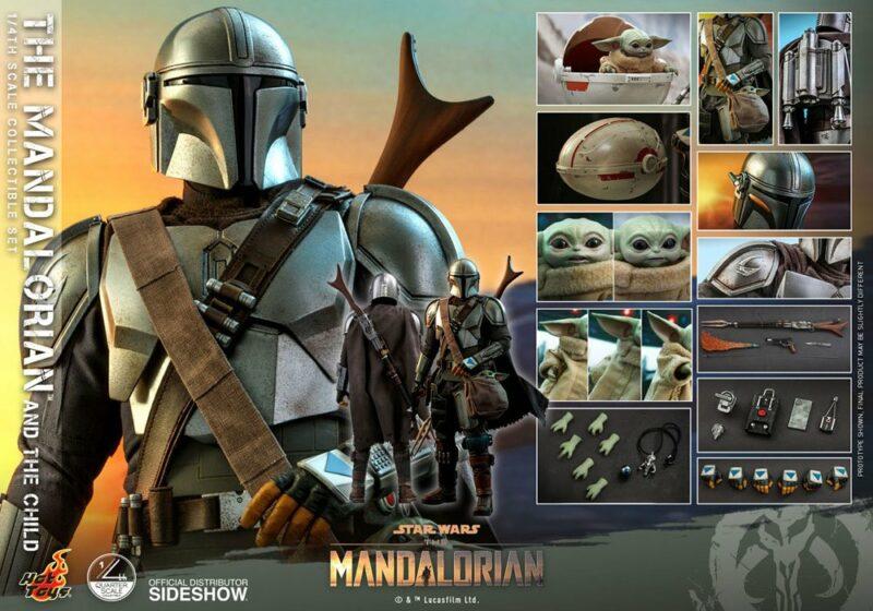 Star Wars The Mandalorian Action Figure 2-Pack 1/4 The Mandalorian & The Child 46 cm