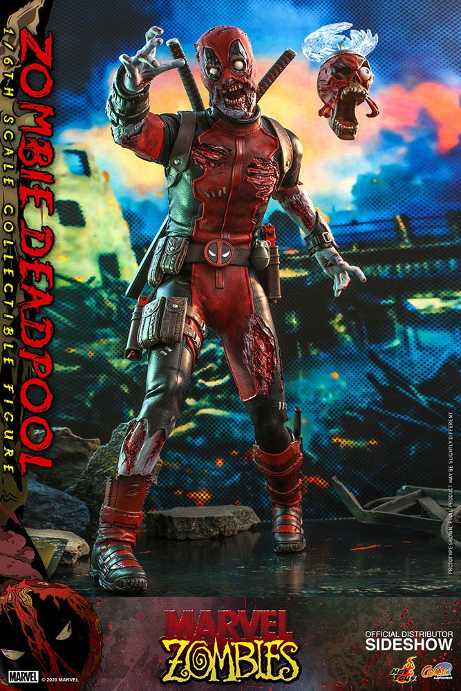 Marvel Zombies Comic Masterpiece Action Figure 1/6 Zombie Deadpool 31 cm