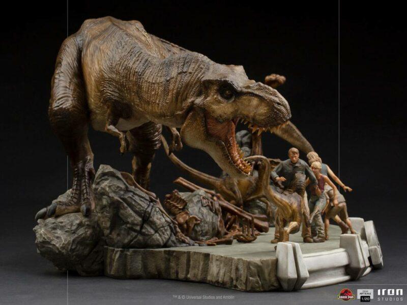 Jurassic Park Demi Art Scale Statue 1/20 The Final Scene 48 cm