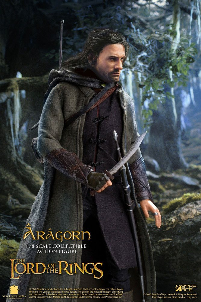 Lord of the Rings Real Master Series Action Figure 1/8 Aragon Special Version 23 cm