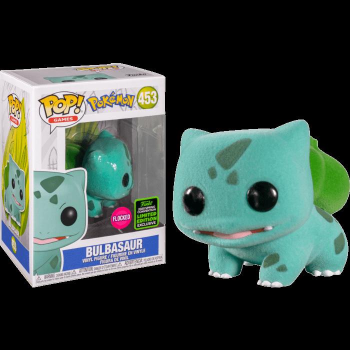 Pokemon POP! Pokemon Bulbasaur Flocked Vinyl Figure (con bollino Spring Convention Exclusive 2020)