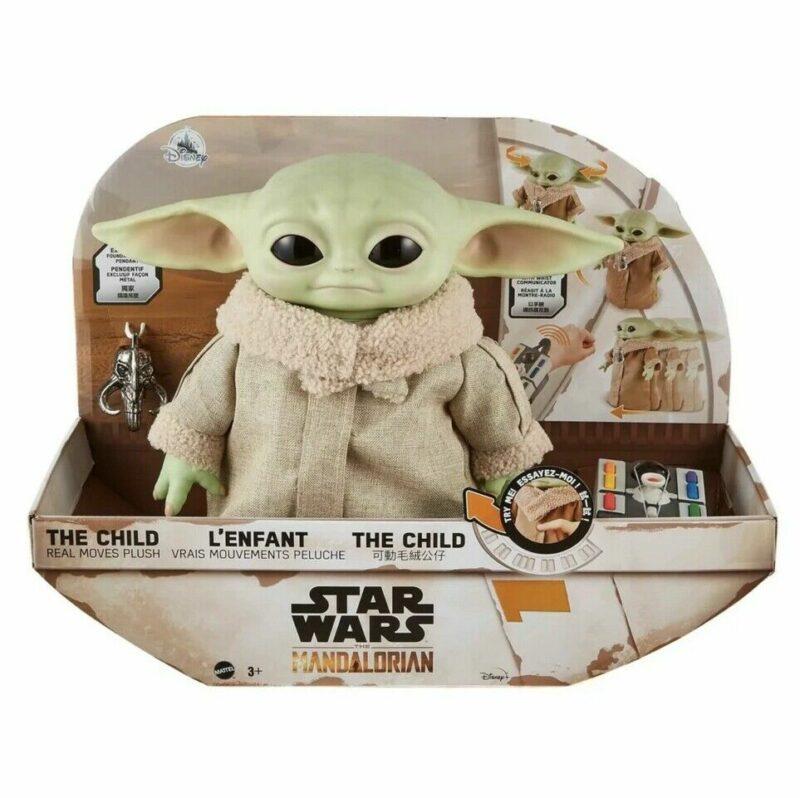 Star Wars Peluche Real Moves The Child (Il Bambino) edizione esclusiva The Mandalorian 28 cm
