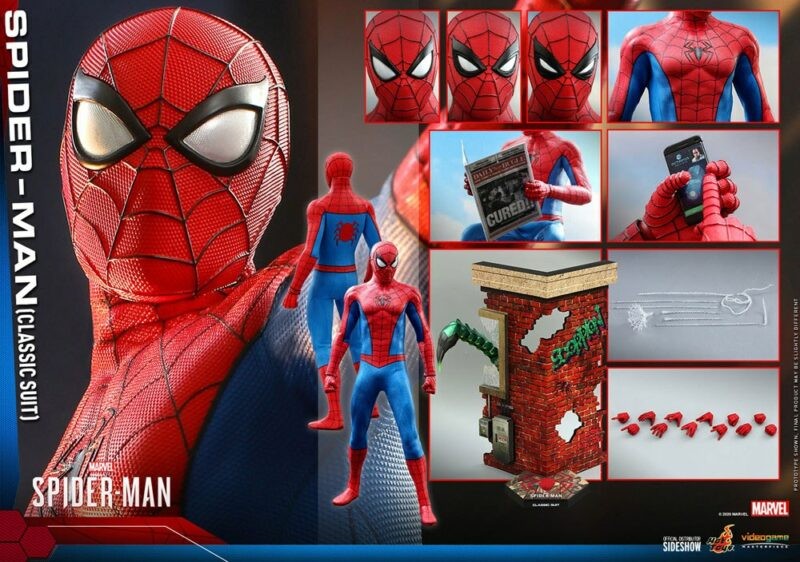Marvel's Spider-Man Video Game Masterpiece Action Figure 1/6 Spider-Man (Classic Suit) 30 cm
