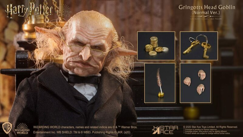 Harry Potter My Favourite Movie Action Figure 1/6 Gringotts Head Goblin 20 cm