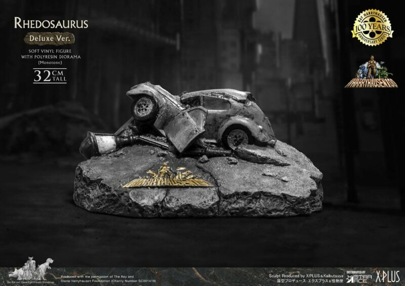 The Beast from 20,000 Fathoms Soft Vinyl Statue Ray Harryhausens Rhedosaurus Monotone Deluxe Ver.