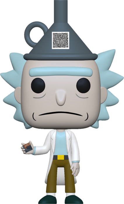 Rick & Morty POP! Animation Vinyl Figure Rick with Funnel Hat Limited 9 cm