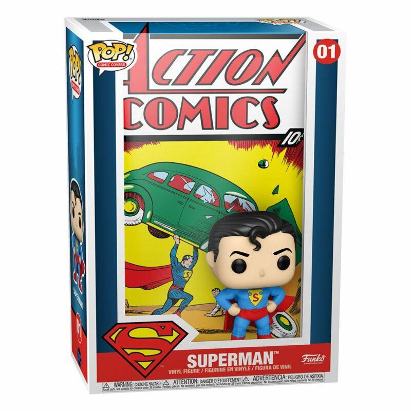 DC Comics POP! Comic Cover Vinyl Figure Superman Action Comic 9 cm