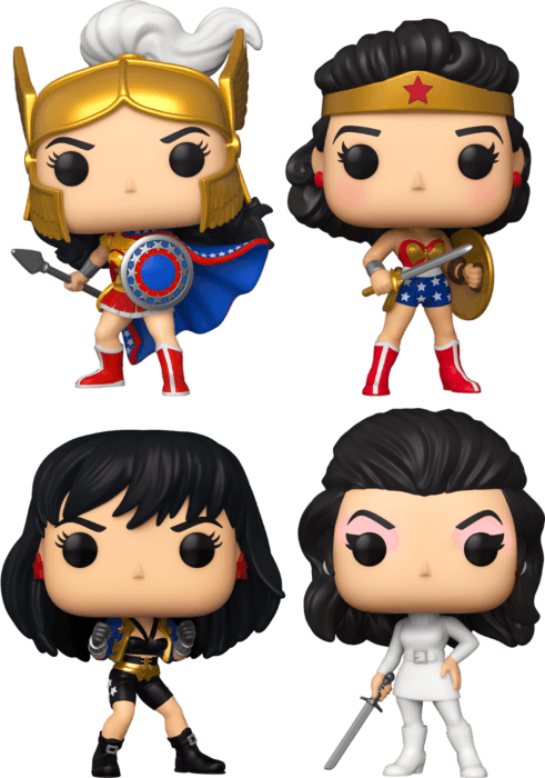 Wonder Woman - 80th Anniversary Pop! Vinyl Bundle (Set of 4)