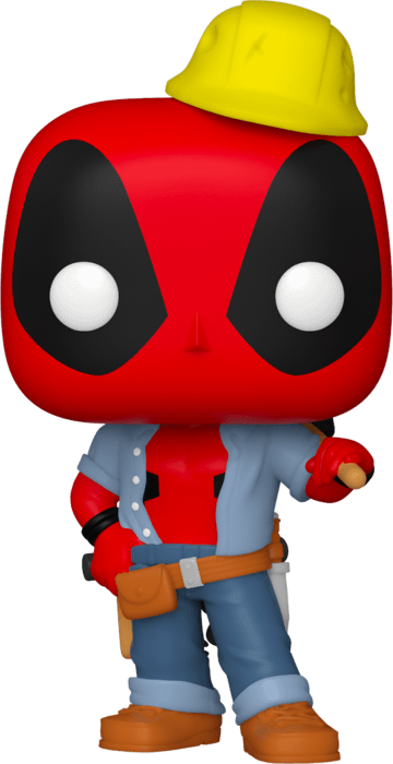 Marvel Deadpool 30th Anniversary POP! Vinyl Figure Construction Deadpool Limited 9 cm