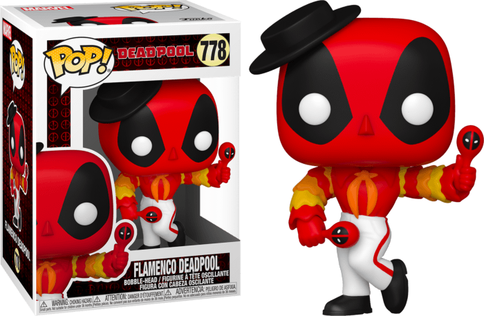 Marvel Deadpool 30th Anniversary POP! Vinyl Figure Flamenco Deadpool 9 cm