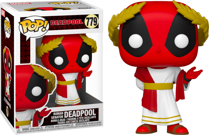Marvel Deadpool 30th Anniversary POP! Vinyl Figure Roman Senator Deadpool 9 cm
