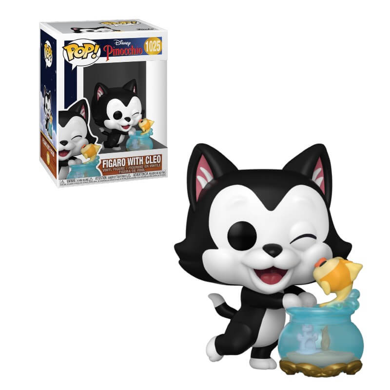 Pinocchio POP! Vinyl Action Figure Figaro with Leo 80th Anniversary 9 cm