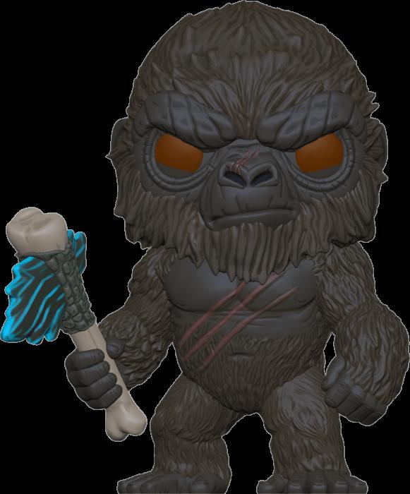 Godzilla Vs Kong POP! Movies Vinyl Figure Kong with Scepter Flocked Limited 9 cm