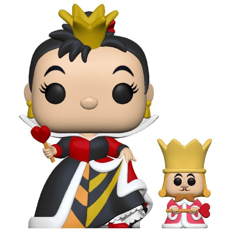 Alice in Wonderland POP! Disney Vinyl Figure Queen of Hearts with King 70th Anniversary 9 cm