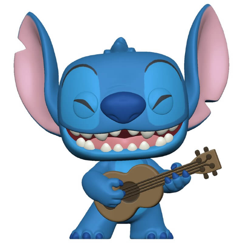 Lilo & Stitch POP! Vinyl Figure Stitch with Ukulele 9 cm