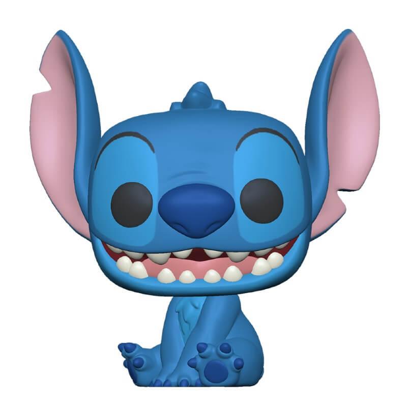 Lilo & Stitch POP! Vinyl Figure Stitch smiling seated 9 cm