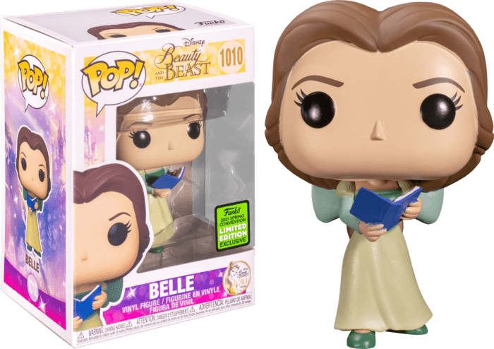Beauty and the Beast POP! Vinyl Figure Belle with Green Dress 30th Anniversary Limited 9 cm (con bollino Spring Convention 2021)