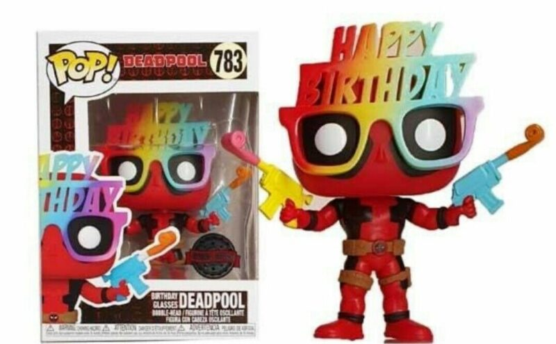 Marvel Deadpool 30th Anniversary POP! Vinyl Figure Birthday Glasses Deadpool Limited 9 cm