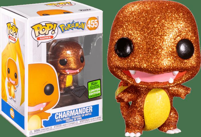 Pokemon POP! Vinyl Figure Charmander Diamond Glitter Limited 9 cm (con bollino Spring Convention 2021)