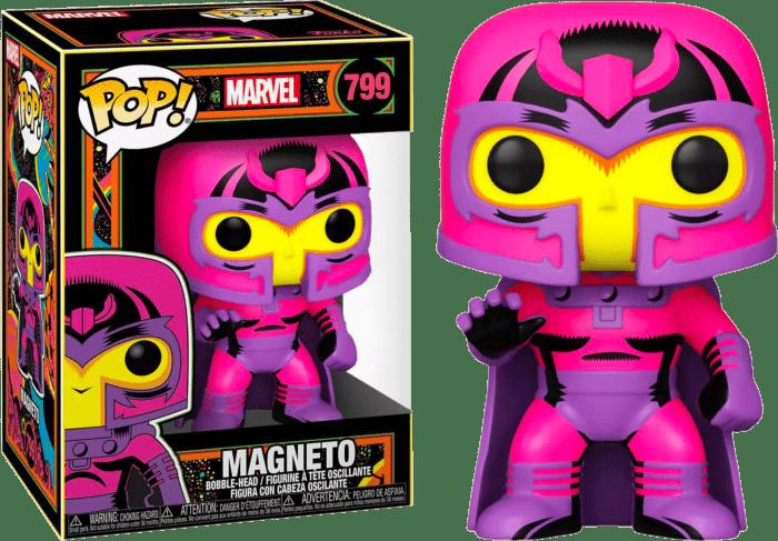 Marvel: Blacklight Pop! Vinyl Figure Magneto Blacklight Limited 9 cm