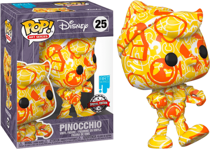 Pinocchio POP! Vinyl Action Figure Pinocchio Artist Series 80th Anniversary with Pop Protector 9 cm