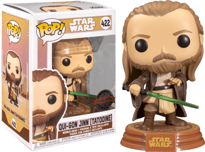 Star Wars: Across The Galaxy POP! Vinyl Figure Qui-Gon Jinn Tatooine Limited 9 cm