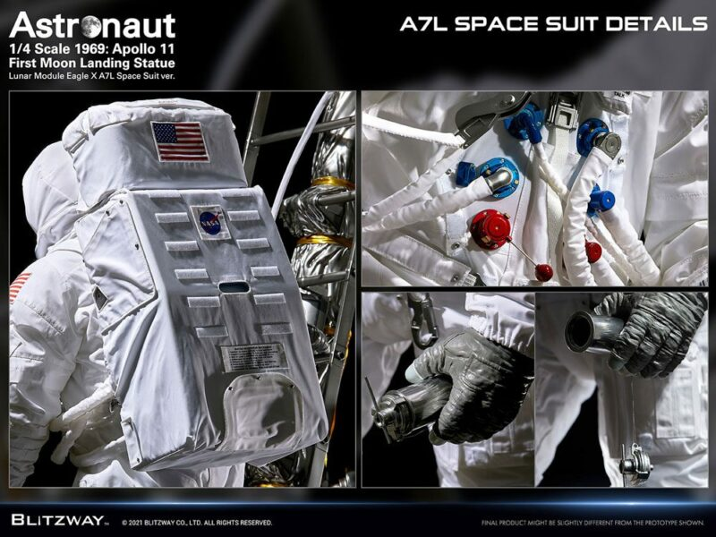 The Real Superb Scale Hybrid Statue 1/4 Astronaut Apollo 11 : LM-5 A7L ver. 79 cm