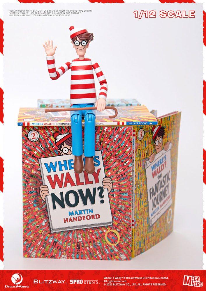 Where's Wally? Mega Hero Action Figure 1/12 Wally 17 cm